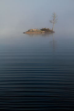 island in the mist, photo by Cliff Homewood