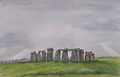 Stonehenge: Watercolour painting by Debbie Homewood