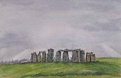 Stonehenge: Watercolour painting by Debbie Homewood