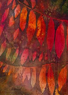 Watercolour: Sumac in the Fall